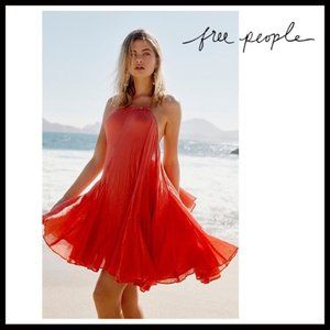 Free People Catching Rays Mini Dress Brilliant Red